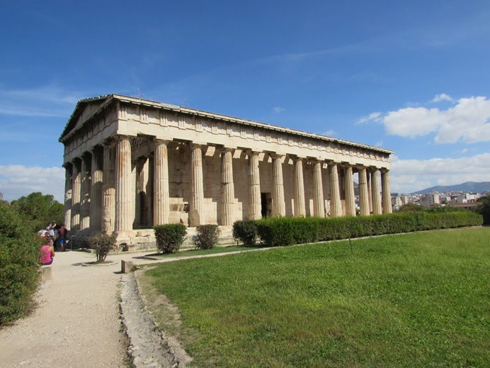 The temple of Hephaestus in the Ancient Agora of Athens