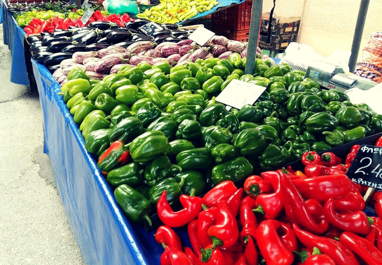 Central food market in Athens - Vegetables