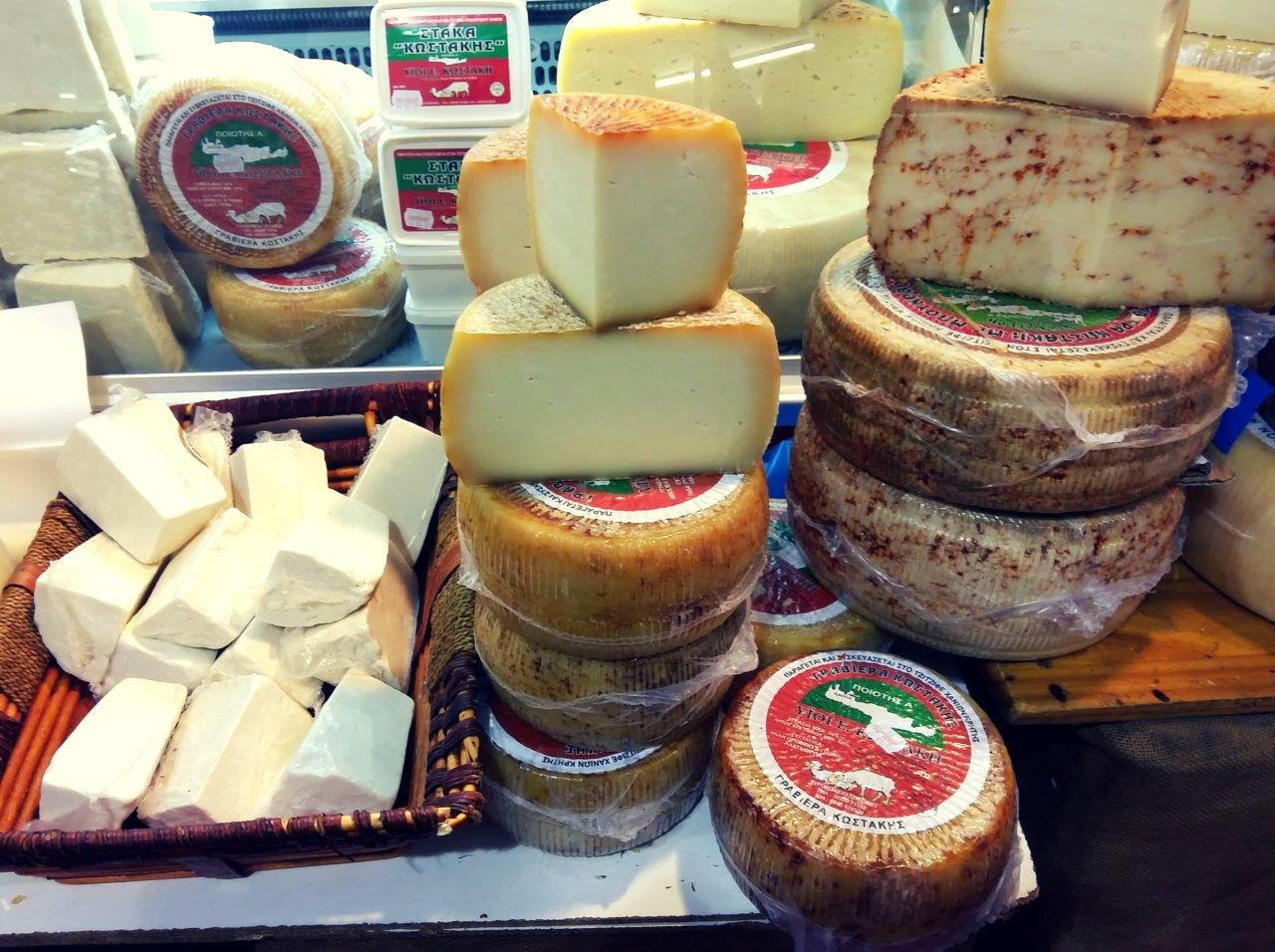 Greek feta and other types of cheese