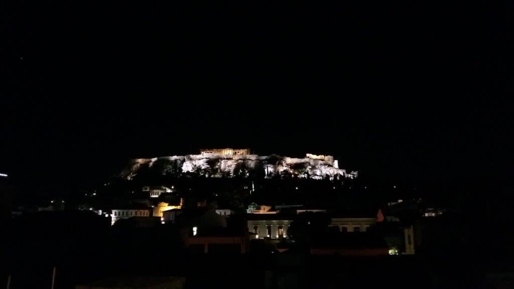 Ancient Athens for free - Acropolis by night