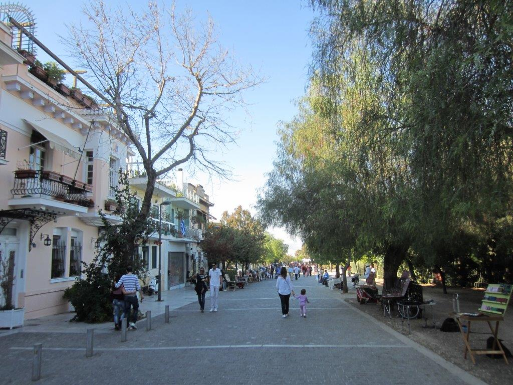 Walking Areopagitou Street in Athens
