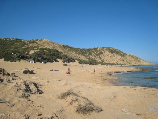 Beach on Gavdos island, south of Crete