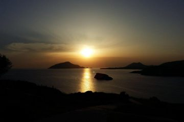 Greece in summer - Sounio sunset
