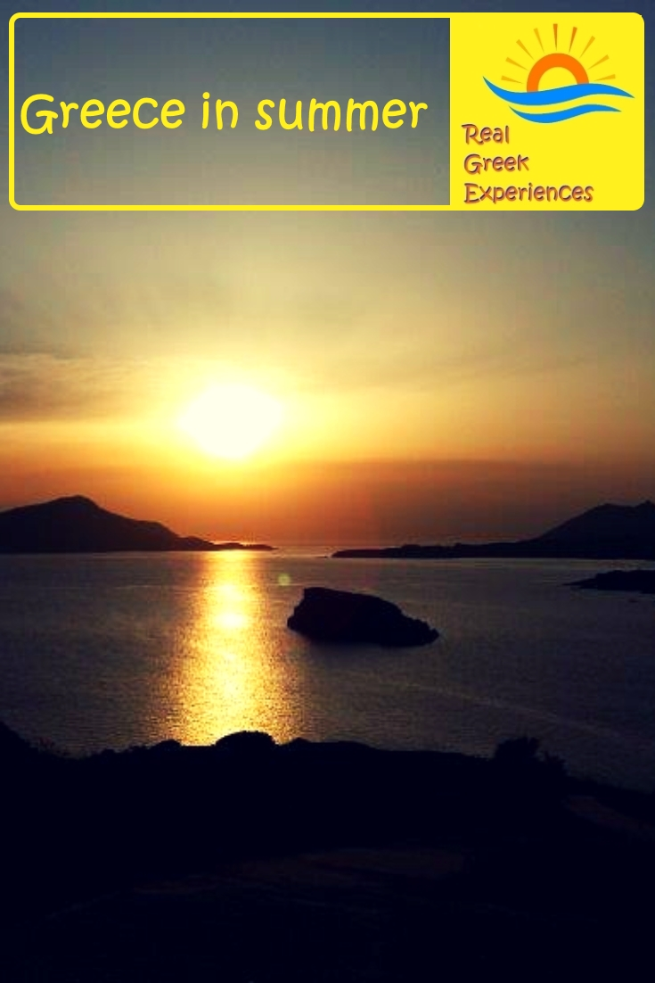 Summer in Greece - Sunset at Sounio