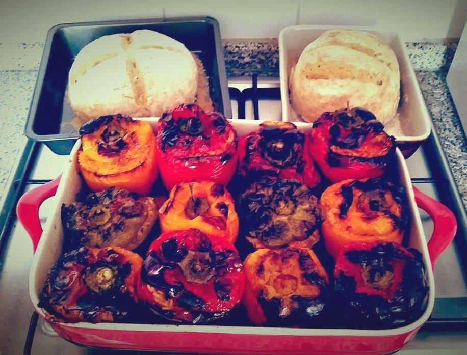 Greek food - Stuffed peppers - Gemista