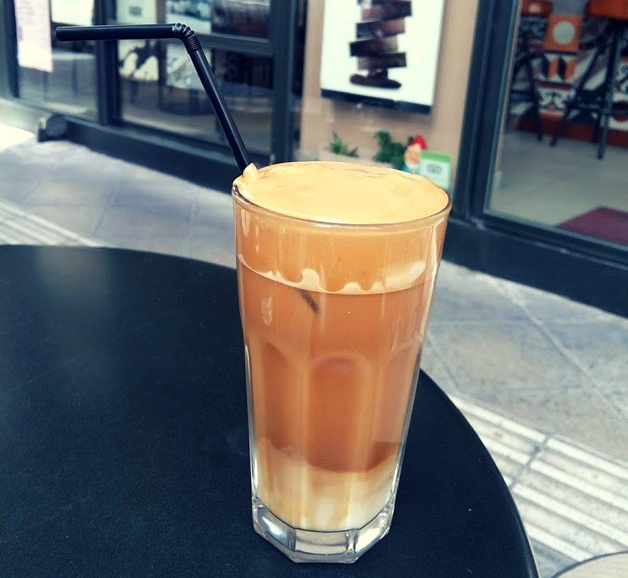 Island hopping in Greece on a budget - Frappe coffee