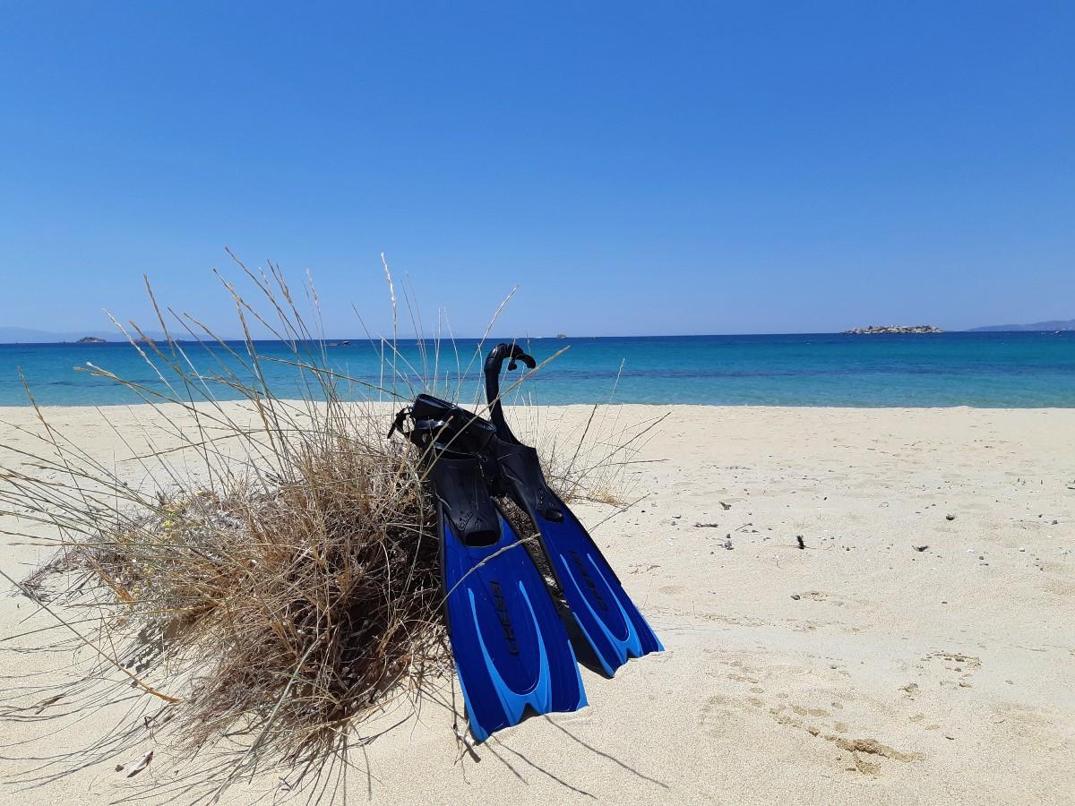 Plaka beach in Naxos Greece
