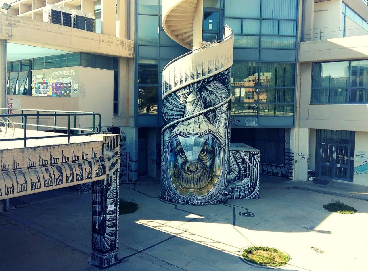 Street art in Athens, Polytechnic University