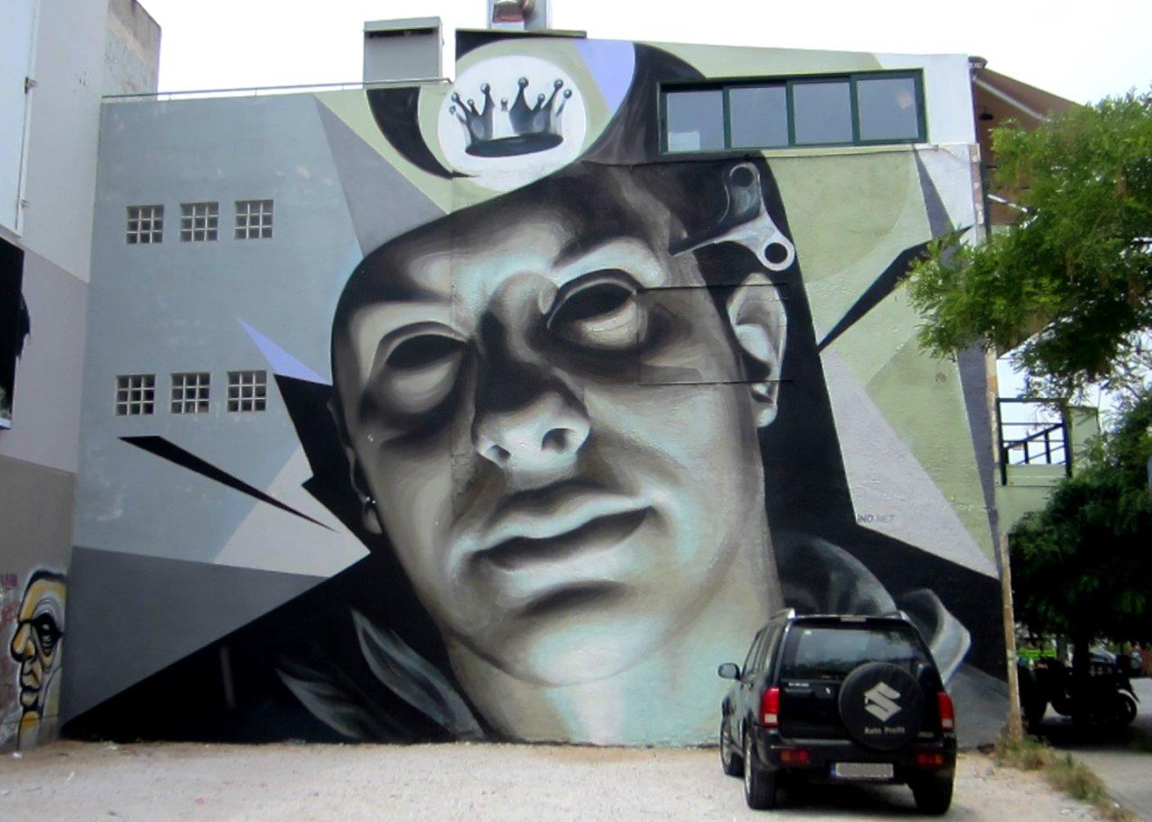 Street art in Kerameikos, Athens