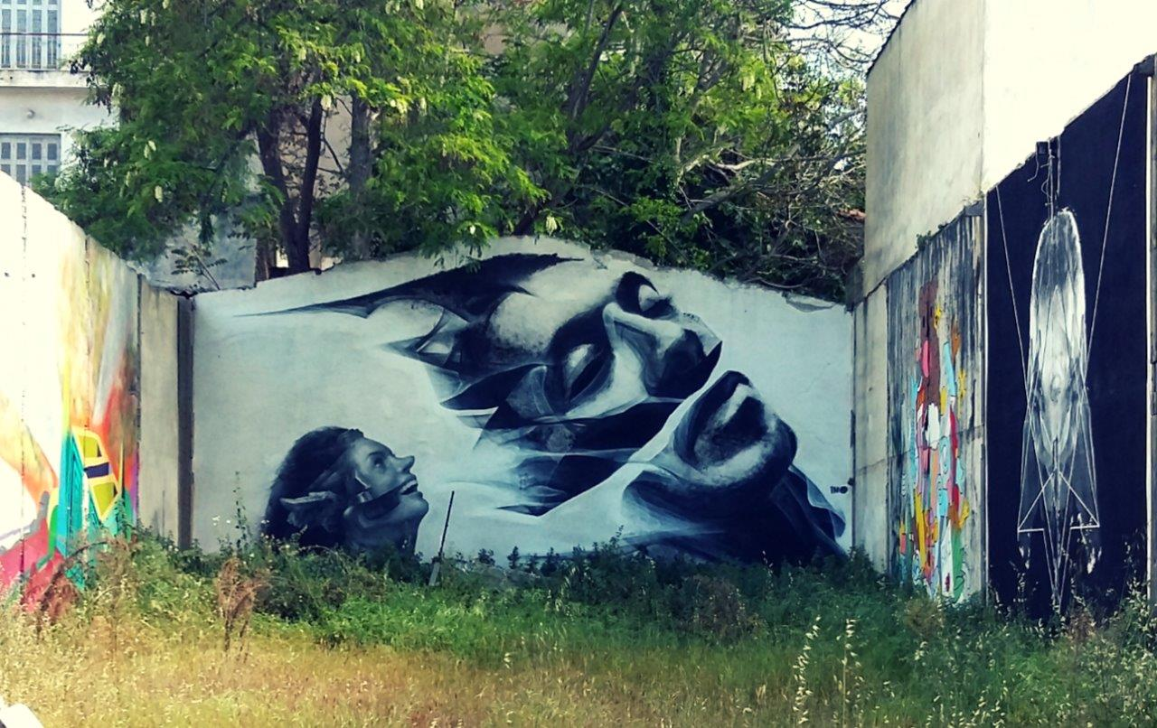 Street art in Metaxourgio, Athens
