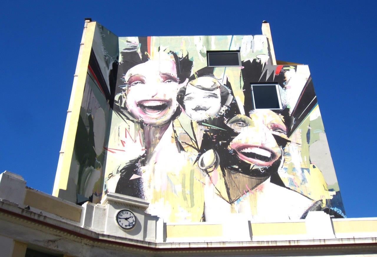 Street art in Psyrri square, Athens