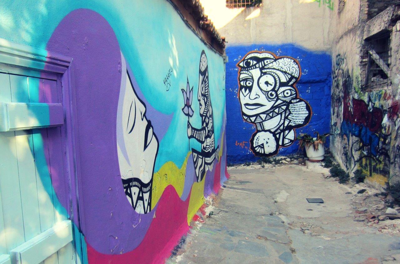 Street art in Anafiotika, Plaka, Athens
