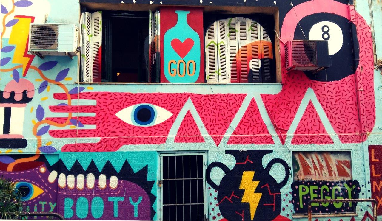 Bright colours - Street art in Athens