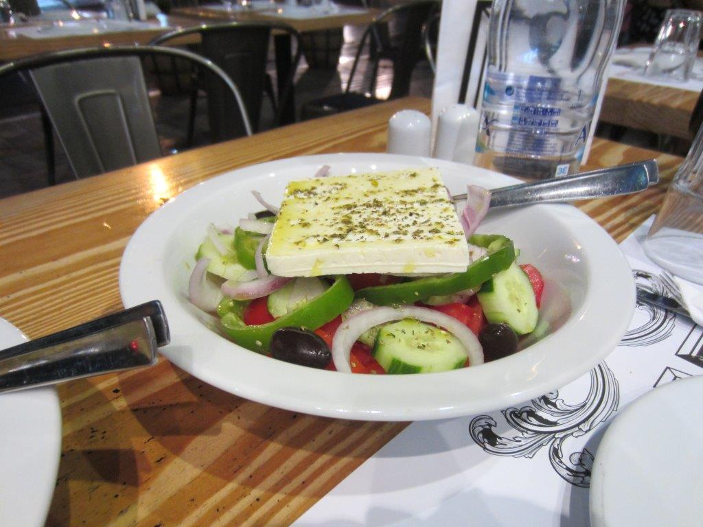 Food in Greece - A typical Greek salad
