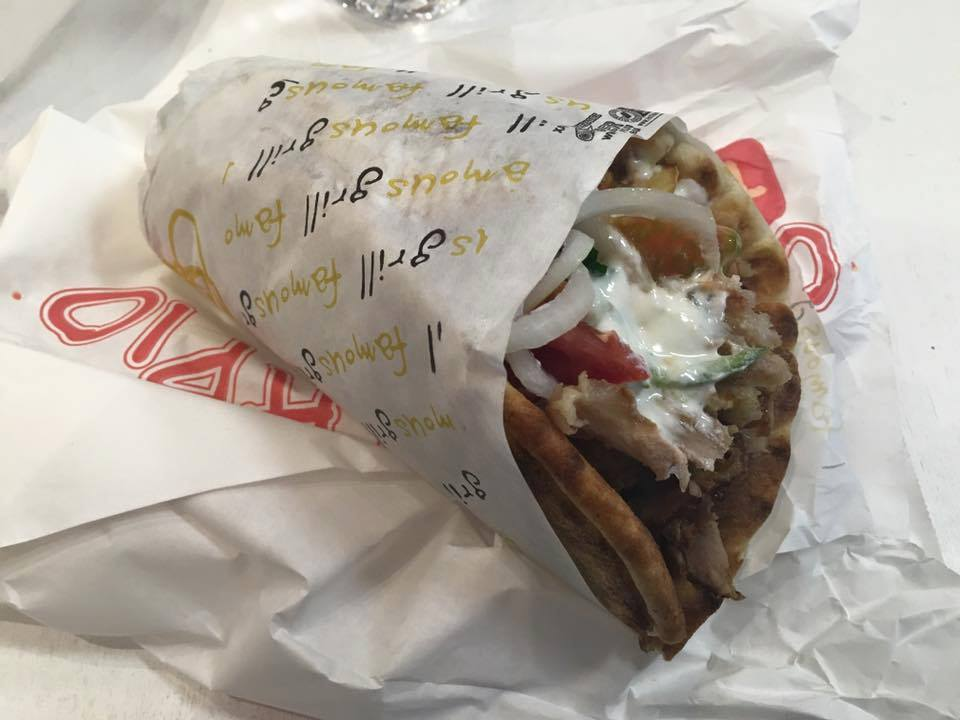 Greek food - Souvlaki with pita