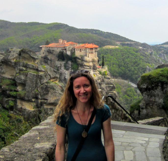 Vanessa at Meteora Monasteries