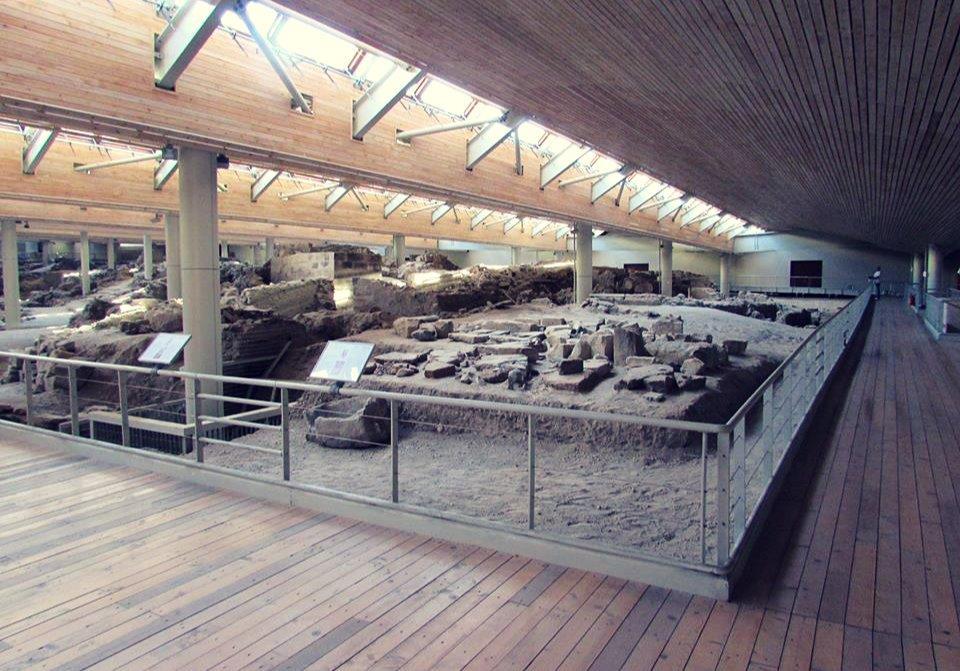 The archaeological site of Akrotiri in Santorini