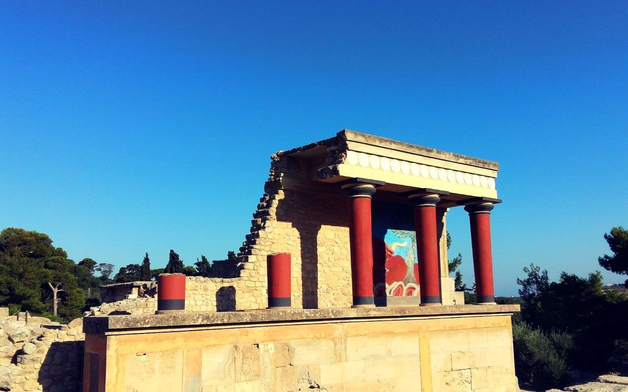 The archaeological site of Knossos in Crete