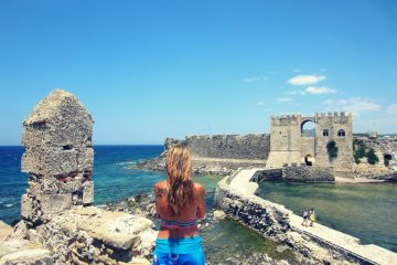 Methoni castle in the Peloponnese