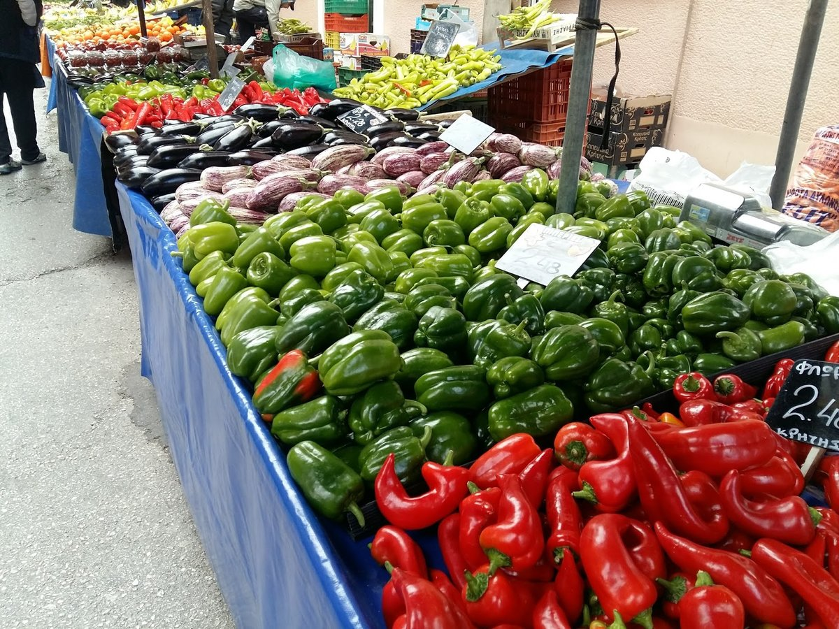 Exploring the food markets of Athens during a private walking tour