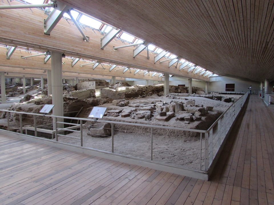 The ancient site of Akrotiri in Santorini