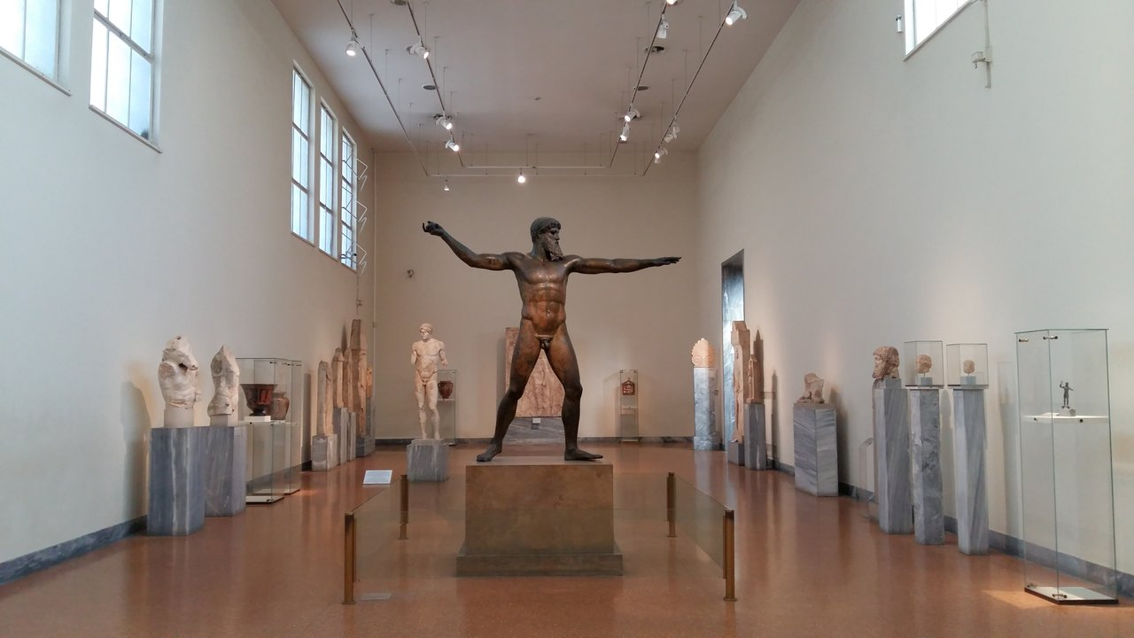 A statue of Poseidon or Zeus from the National Archaeological Museum in Athens