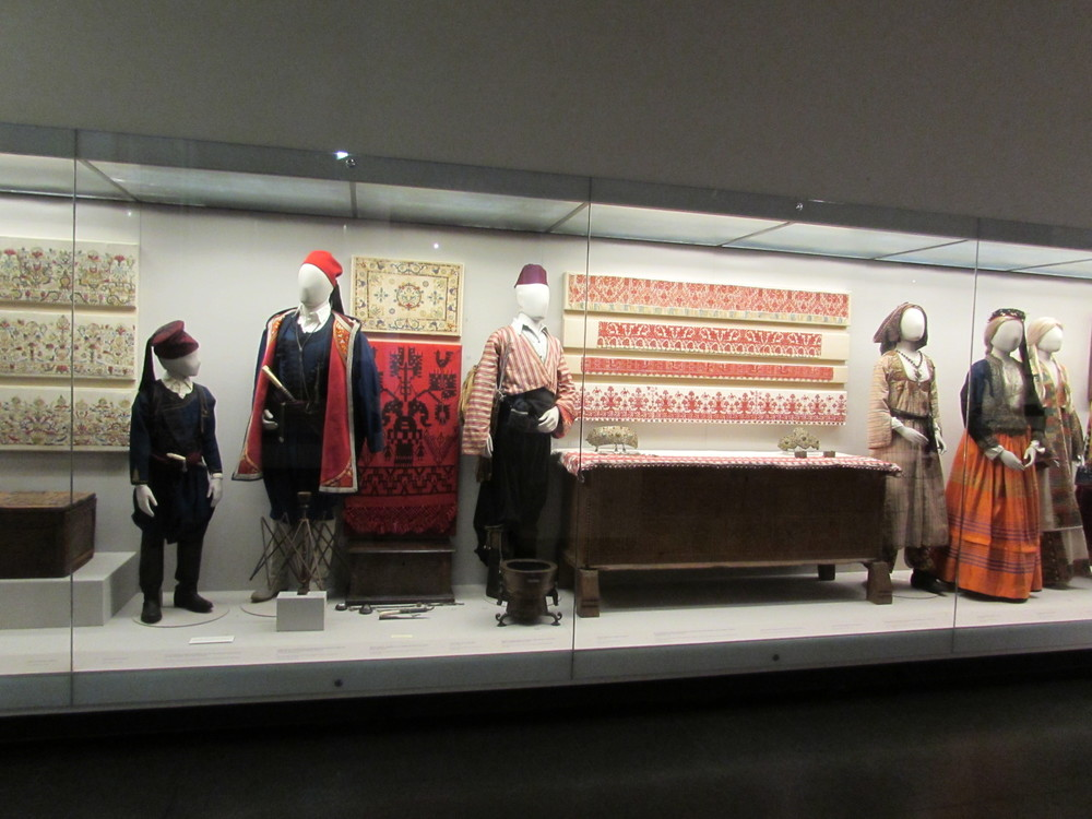 National Costumes of Greece on display in the Benaki Museum in Athens