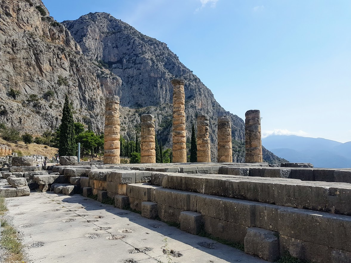 Delphi archaeological site mainland Greece