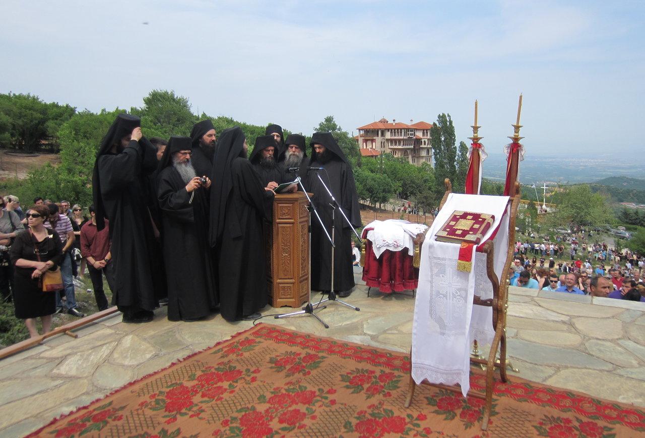 Greek Orthodox Priests at Easter in Greece
