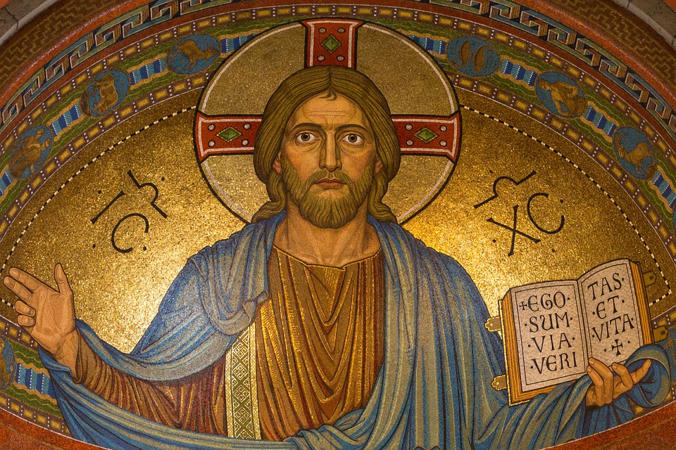 Jesus Christ mosaic in a Greek church