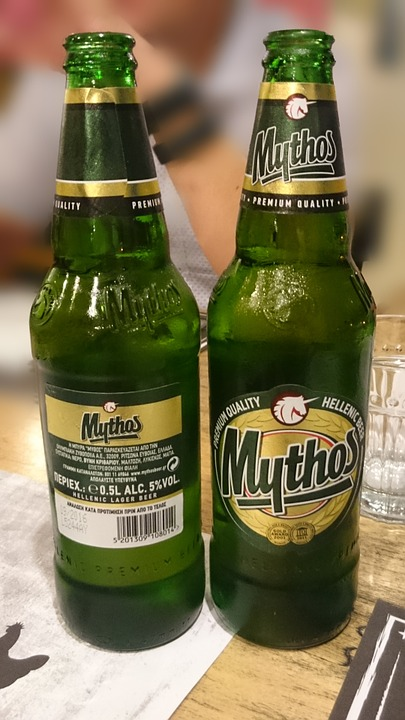 nice cold Mythos goes down well on a hot day!