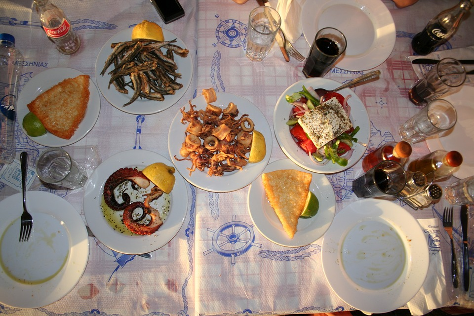 Local Greek food - Taverna meal
