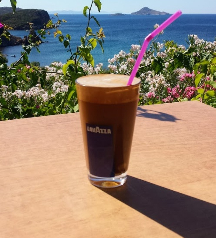 A coffee with a view in Greece