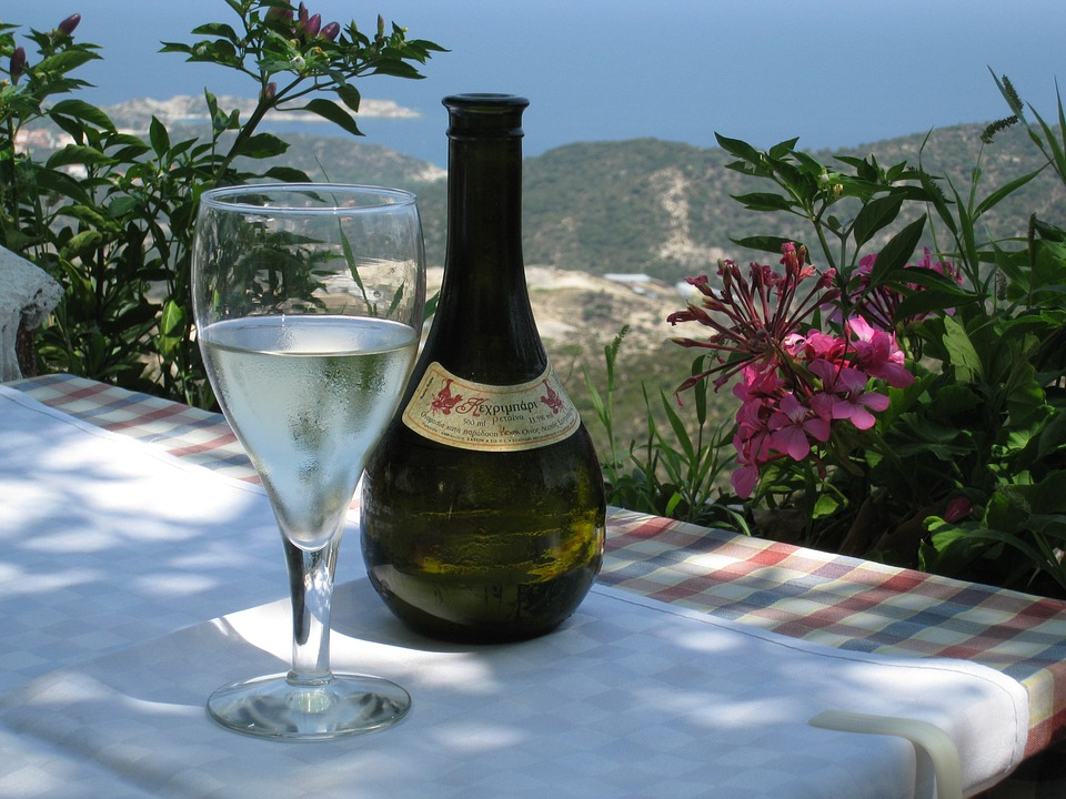 Greek wine with a view