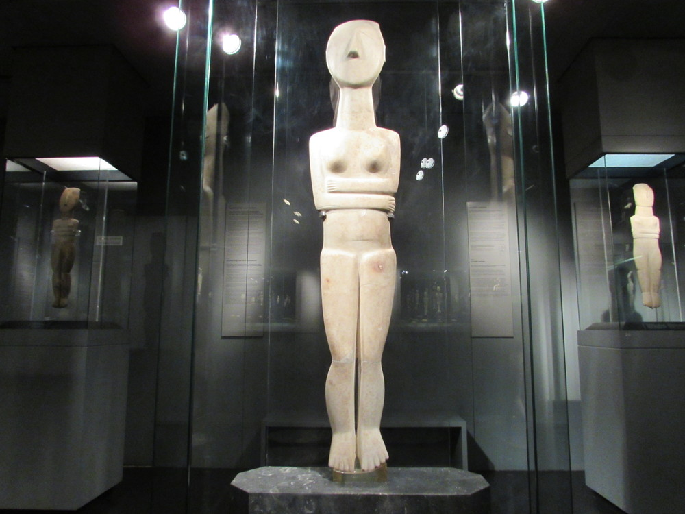 Statues of Cycladic Art from the Cycladic Art Museum in Athens