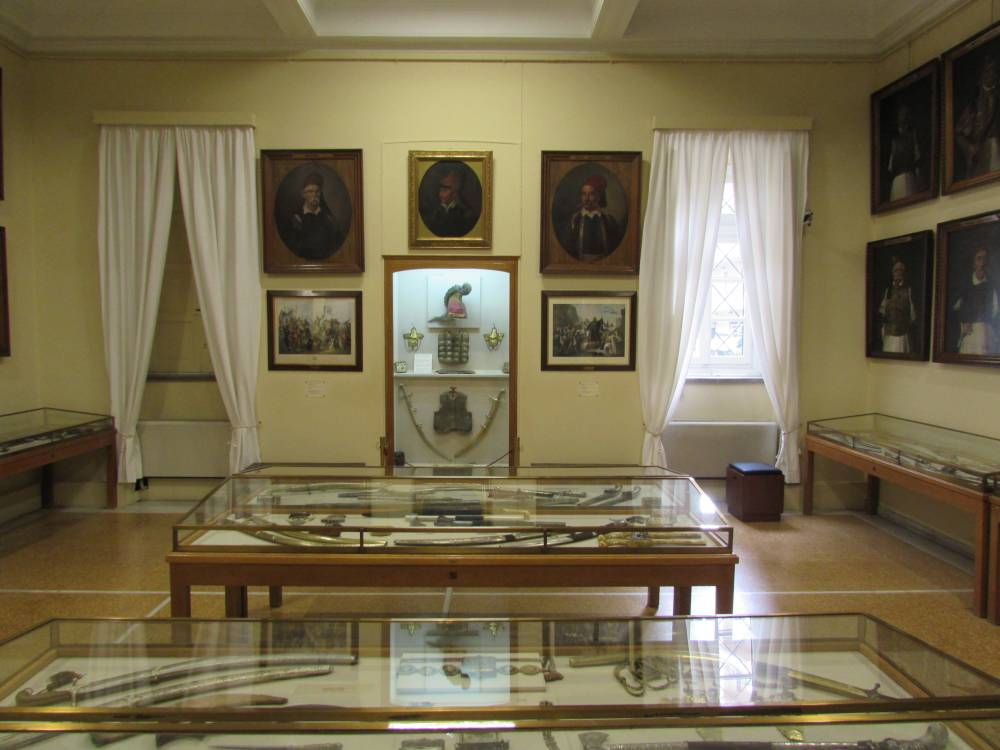 Displays inside the National Historic Museum of Athens