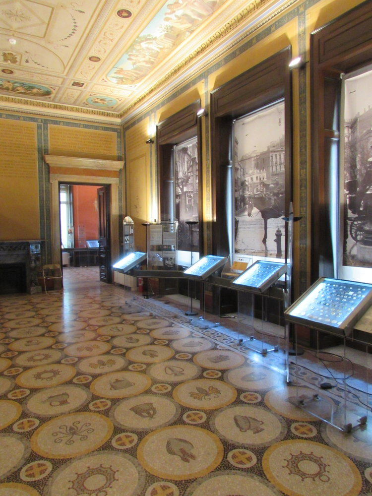 The interior of the Numismatic Museum of Athens is very impressive
