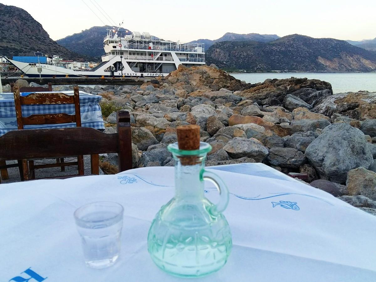 Cretan raki Greek drink