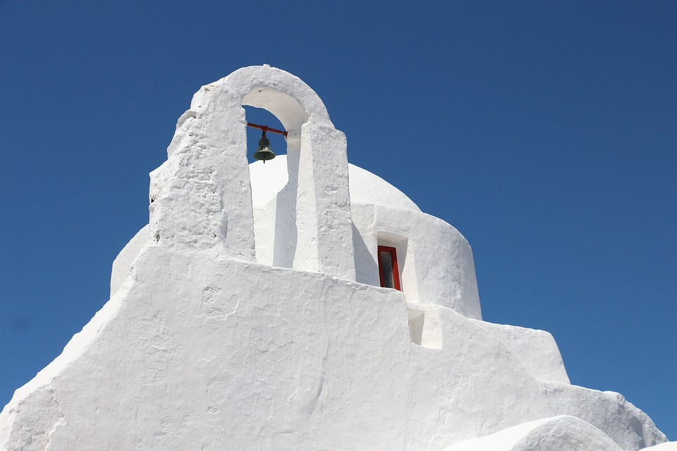 Greek church white