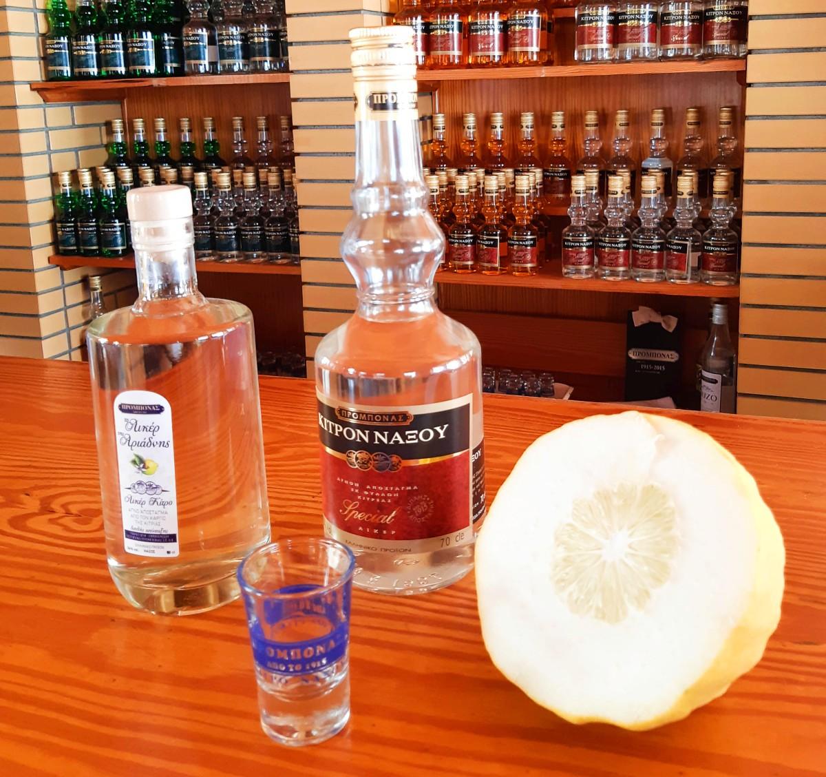 Local Greek drinks in Naxos island