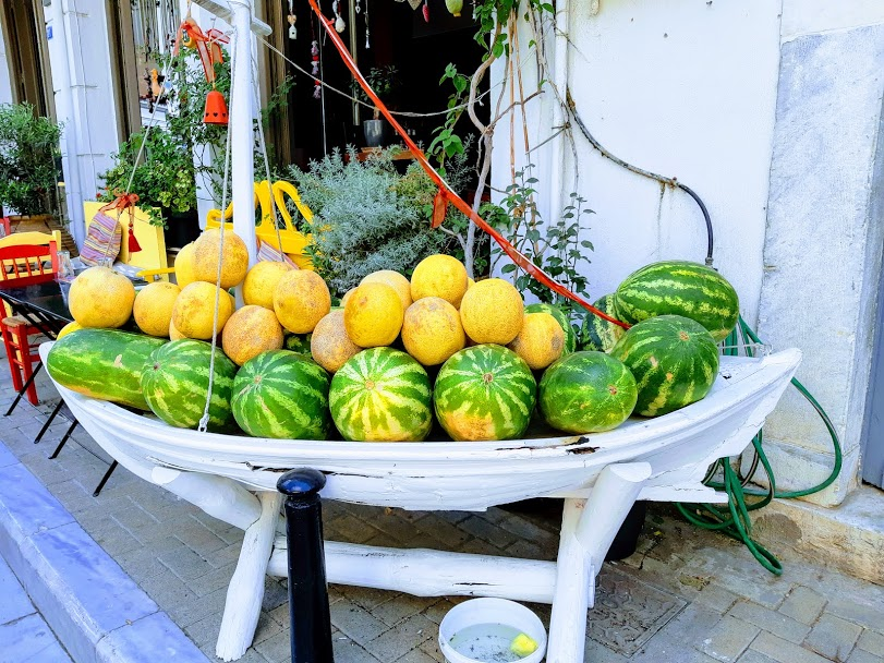Greek melons and watermelons