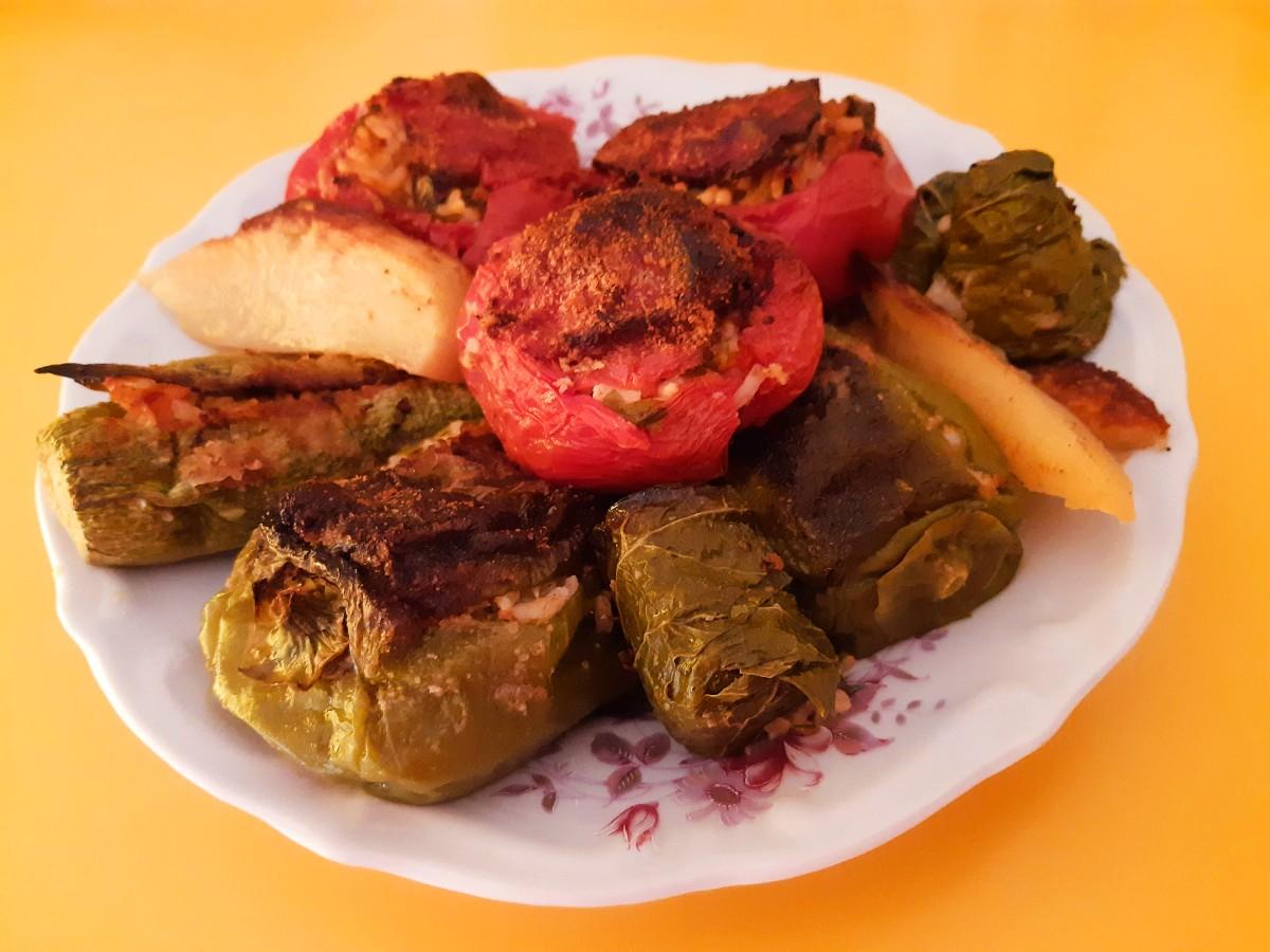 Greek gemista - Stuffed tomatoes and peppers