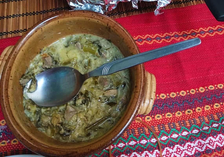 Greek Easter meat soup mayiritsa