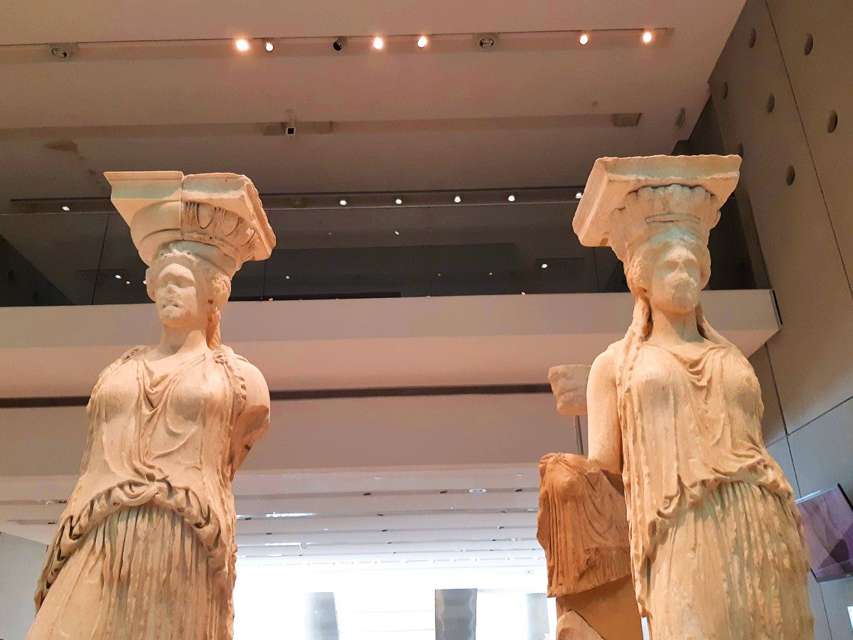 Acropolis museum and the Caryatids - Best museums in Athens