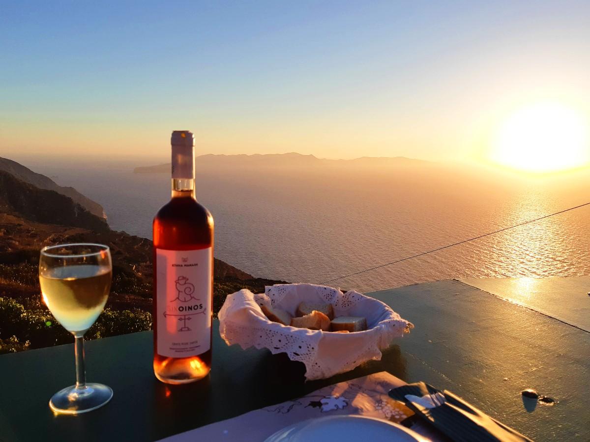 Greek wine on Sikinos island