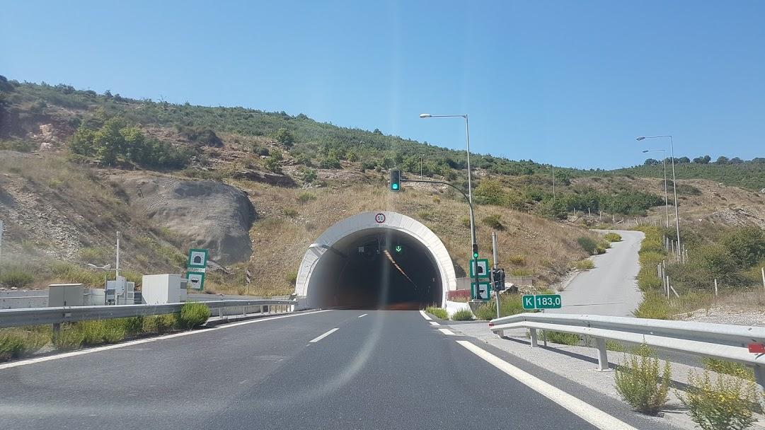 Driving in Greece - A tunnel on the highway