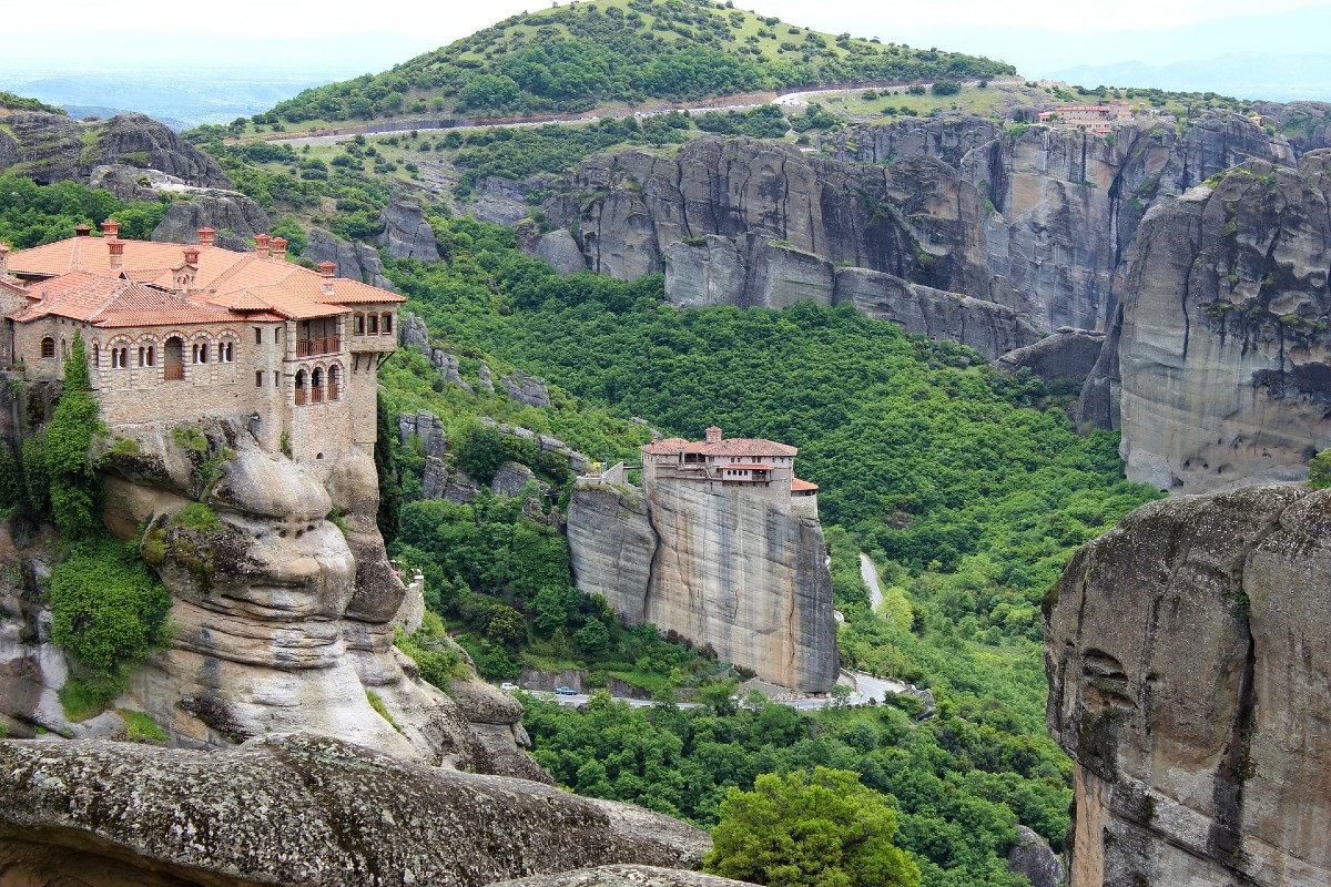Meteora monasteries Thessaly Greece