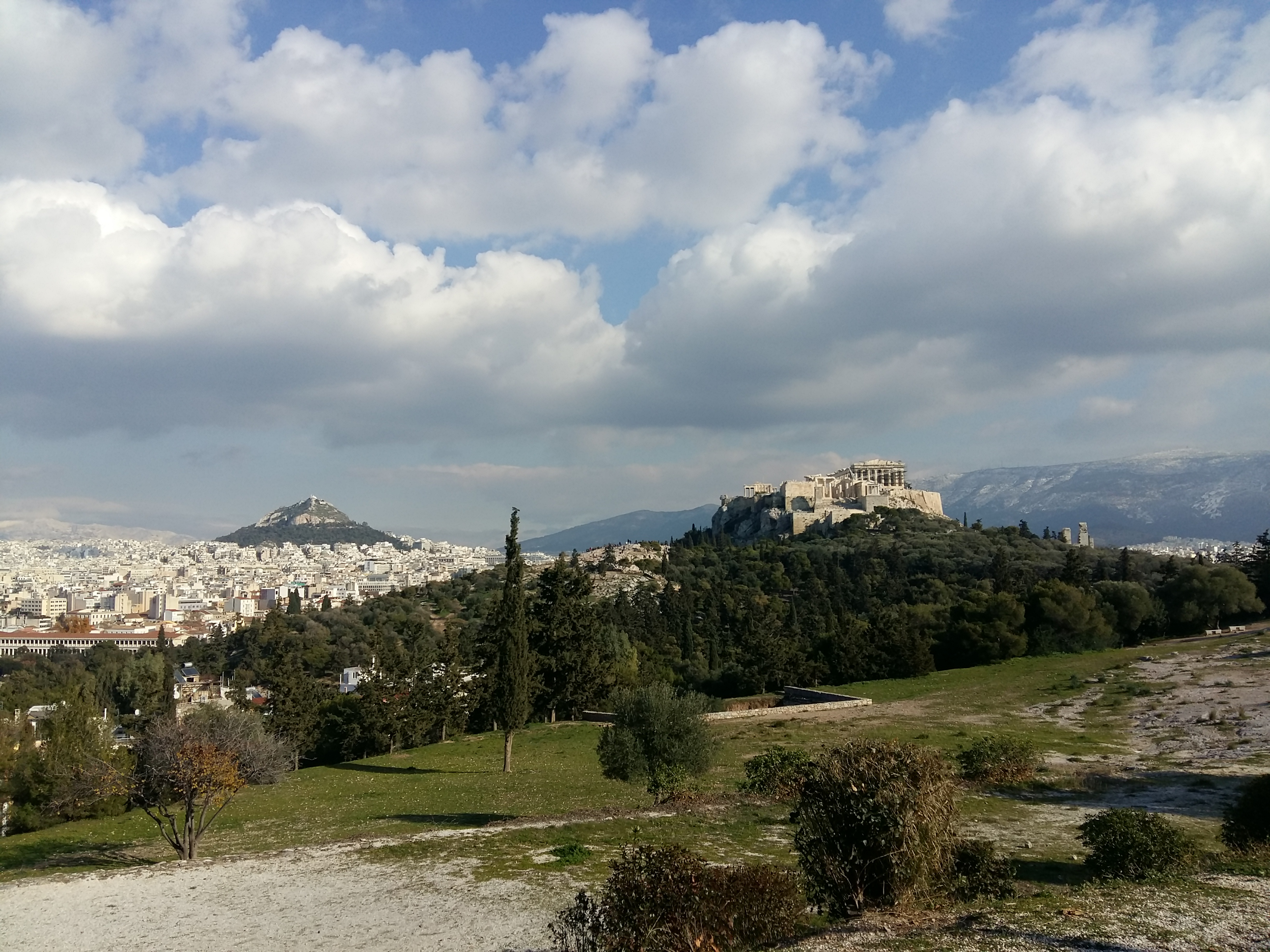 Walk around the ancient sites in Athens