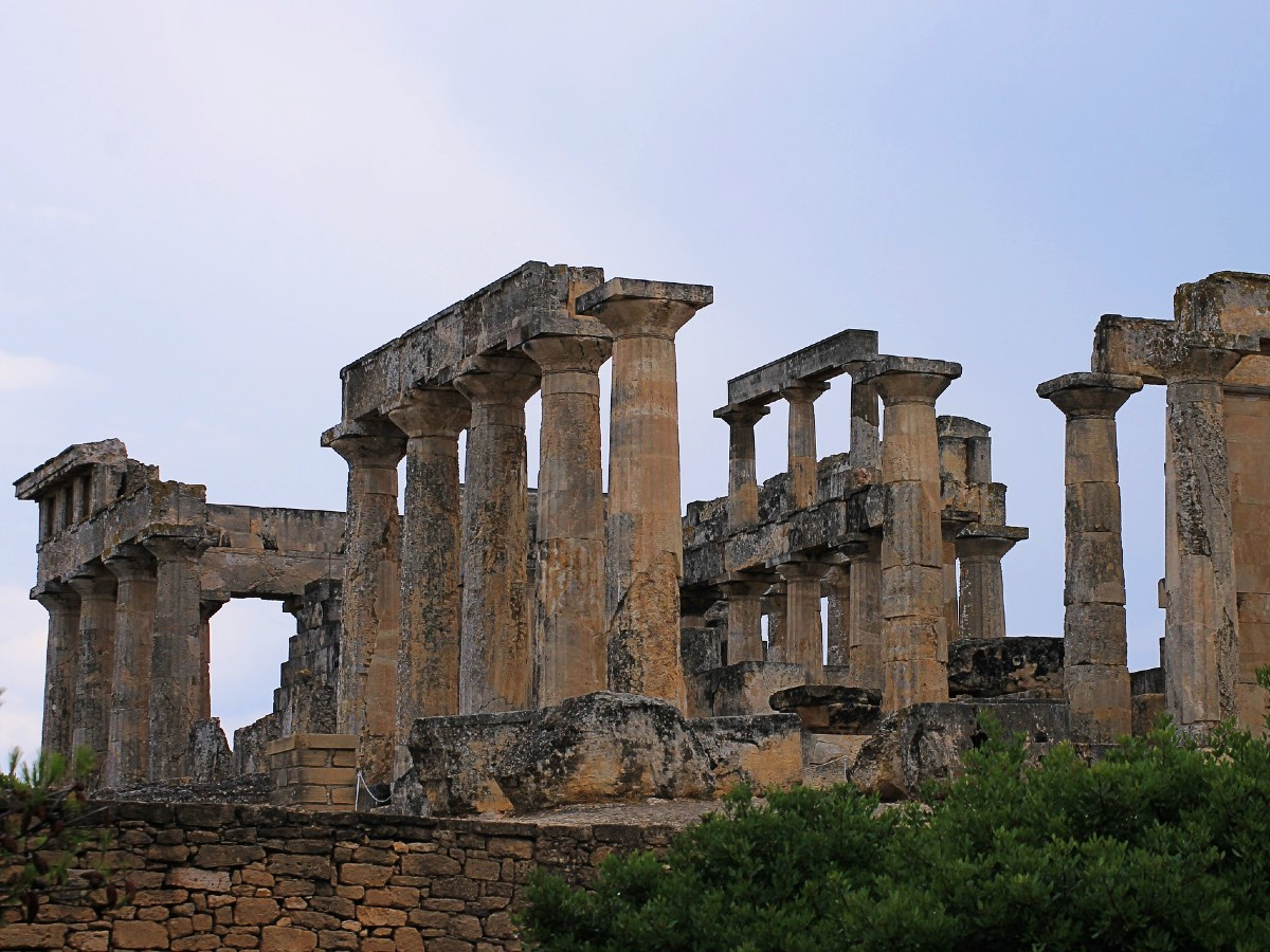 Saronic islands - Aegina, the temple of Aphaia