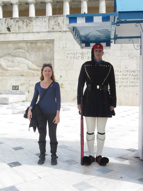 Vanessa with a Guard in Athens